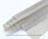 水晶ラインストーンのダイヤモンドの網のトリムシートロール(TM243/2mmシャム)のSs6 2mmシャムの鉄