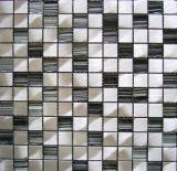Mosaico de cristal misturado Mosaico Mosaico de metal de alumínio