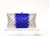 青いカラー女性のクラッチ・バッグ、方法Eveningbag