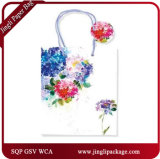 Les sacs de papier kraft blanc avec Hang Tag