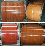 Bobina d'acciaio di colore preverniciata reticolo di legno di qualità
