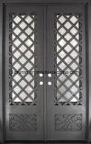 低いEガラスが付いている最新の美しいデザイン錬鉄のドア