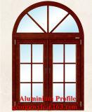 Profil en aluminium anodisé de profil en aluminium enduit d'extrusion de poudre pour le Module de portes de Windows