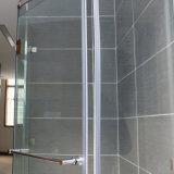 Il sigillo alla porta di vetro dell'acquazzone mette a nudo le strisce di gomma impermeabili