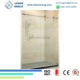 3/8 de balanço desobstruído que desliza a porta do chuveiro do vidro Tempered de Frameless