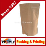 250g, 8oz Papel Kraft Stand up Zipper sacos de café bolsas com Válvula (220070)