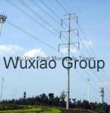 Mast van de Distributie van de Macht van de hoogspanning de Elektrische Monopole en van de Transmissie