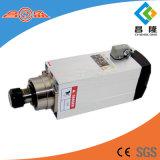 Motor eléctrico del husillo 6kw 18000rpm Square Type HSD para la máquina de grabado de madera del CNC Router