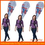 Пригодное для носки знамя Backpack на сбывании