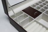 다른 보석을%s 브라운 PU 가죽 완료 조합 상자