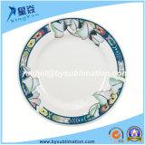 Piatto di ceramica di sublimazione della decorazione 8 del foglio del loto '' da vendere