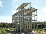 Edificio de marco galvanizado de la estructura de acero