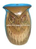 Tabouret en céramique de jardin de Shapped de hibou (GW1699)