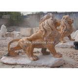 Mármore Branco Animal Art Carving estátua / escultura para decoração de jardim