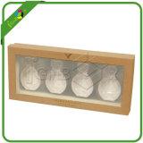 Muestra pequeña botella de perfume del aceite esencial de regalo caja de embalaje con Flocado Insertar