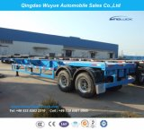 2 Eje Skeleton camión contenedor Semirremolque