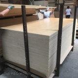 9/12/15/18mmの4*8ポプラのコアキャビネットのための紫外線白いシラカバの合板のキャブレターE0の家具のボード