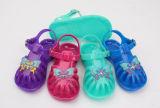 Симпатичные сандалии студня тапочки PVC прозрачные для девушок (24ja1625)