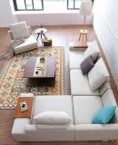 Grande sofà libero d'angolo S6069 di combinazione di disegno moderno di formato