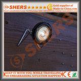 휴대용 소형 태양 강화된 4 SMD LED 야영 손전등 원형