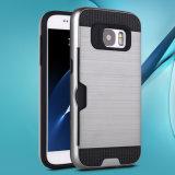 Caisses ultra minces métalliques d'armure de Verus balayées par slot pour carte pour Samsung S8 S8 plus