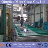 3,2 mm / 4 mm templado hierro bajo cubierta de cristal para los colectores solares