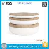3PCS Ceramic Storage Bottle con Wooden Lid Designer Home Decor