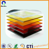Hoja de color de transparencia translúcido rojo fluorescente de alto brillo PMMA