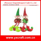 Décoration de Noël (ZY14Y512-1-2) Clown Noël jouet en peluche Lutin de Noël sur une étagère