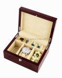 Contenitore di regalo di legno della visualizzazione dell'accumulazione di vigilanza di rivestimento lucido della noce