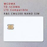 Karte der Karten-3G 4G WCDMA TD-SCDMA Lte Nanosim auf R&S Cmu200 prüfen
