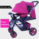Facile à siège ou de fixer, pliable, High-Carbon poussette de bébé en acier