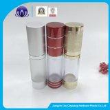 Freie/bereifte luftlose Plastikflasche für Augen-Serum-Lotion-Aluminium-Schutzkappen