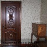 HDF blanc intérieur en bois solide porte en bois