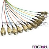 Комплект отвода FC оптоволоконным кабелем с 12 цветов 0.9mm