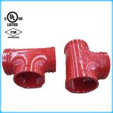 Té Grooved d'égale d'ajustage de précision de pipe avec FM/UL reconnu