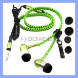3.5mm Fashion Stereo Zipper Earphone mit Mic für PC iPhone iPad Samsung-Tablet