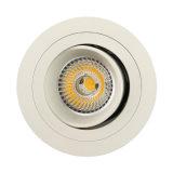 Projecteur enfoncé par inclinaison ronde de l'aluminium GU10 MR16 LED de tour (LT2308B)