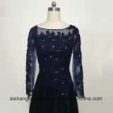 Le long lacet de robes de soirée de chemises Appliques la robe perlée de bal d'étudiants