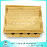Het natuurlijke Hakbord van de Kaas van het Bamboe met de Scherpe Raad van het Bamboe van Messen