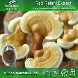 100% natural polissacarídeos Ganoderma Lucidum Extract (10%~50%, Triterpenoids 2%~20%)