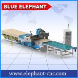 Alimentação automática 5D Porta de madeira Porta de produção CNC Router, Máquina CNC para móveis de madeira, Fabricação de armários