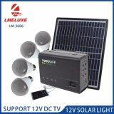 30W 4개의 LED 전구를 가진 휴대용 태양 에너지 상자