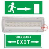 Indicatore luminoso ricaricabile Cina della paratia dell'uscita di sicurezza dell'alloggiamento LED delle 1038 plastiche con la batteria Ni-CD per il segno dell'uscita