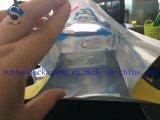 Sac d'emballage estampé par coutume rescellable de papier d'aluminium avec le guichet
