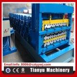 Double fiche à trois couches de la plaque panneau Tuiles machine à profiler à froid
