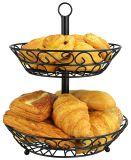 Корзина плодоовощ металла двойных ярусов кухни Dismountable