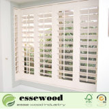 Branco puro Basswood Plantation persianas de madeira da Janela