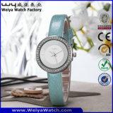 Relojes ocasionales de la insignia del reloj de encargo del cuarzo para las señoras (WY-090A)