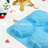 100% moulages de silicones de chocolat/gâteau de la catégorie comestible 4-Cavity Doraemon